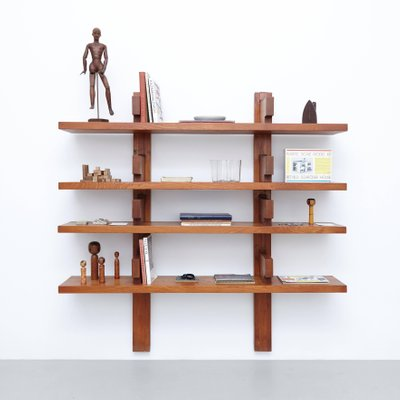 Wall Mounted Book Shelves By Pierre Chapo 1960s For Sale At Pamono
