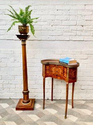 Antique Wooden Plinth Pedestal Plant Stand