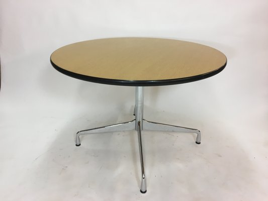 Vintage Circular Dining Table By Charles Ray Eames For Vitra