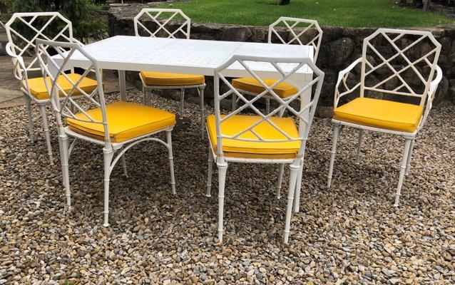 Tavoli Da Giardino In Alluminio.Tavolo Da Giardino In Alluminio Con Sedie Di Brown Jordan Anni