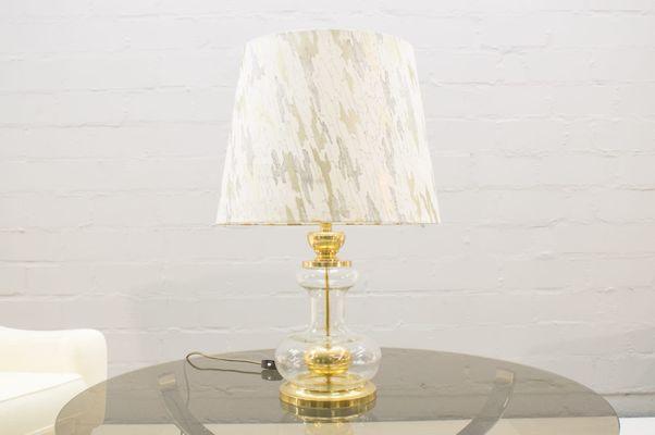 Lampade In Vetro Anni 70 : Lampada da tavolo in ottone e vetro anni in vendita su pamono
