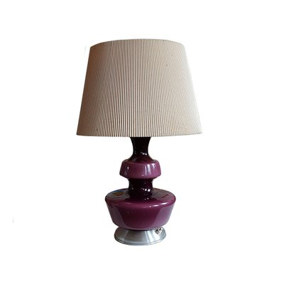 Glass Table Lamps by Holmegaard Denmark
