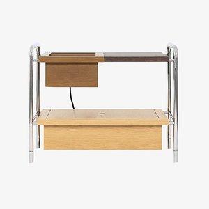 Samuel Side Table W/ Charging Box by Marqqa