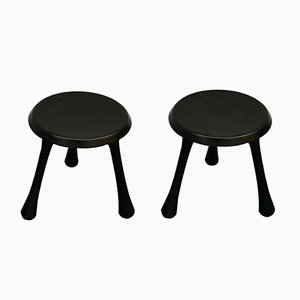 Vintage Black Stools by Ingvar Kamprad for Habitat, 2004, Set of 2