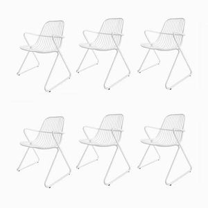 Iron Stackable Garden Chairs from Wohnbedarf, 1968, Set of 6