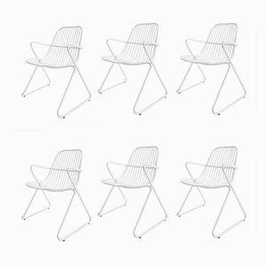 Stapelbare Gartenstühle aus Eisen von Wohnbedarf, 1968, 6er Set