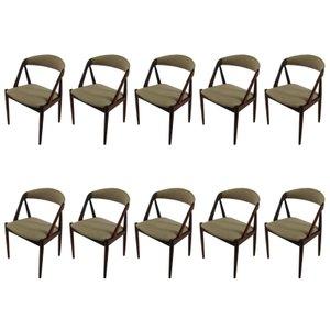 Personalisierbare Esszimmerstühle aus Teak von Kai Kristiansen für Schou Andersen, 1960er, Set of 10