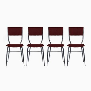 Customizable Mid-Century Italian Dining Chairs, 1950s, Set of 4