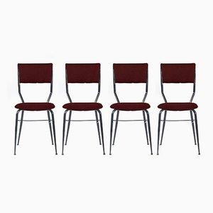 Personalisierbare italienische Mid-Century Esszimmerstühle, 1950er, 4er Set