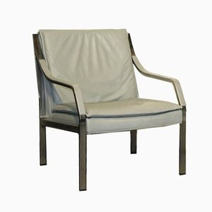 Vintage Art Collection Leather Lounge Chair from Knoll