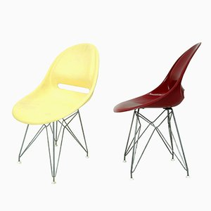 Fiberglass Chairs by Miroslav Navrátil for Vertex, 1950s, Set of 2