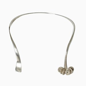 Swedish Modernist Silver Neck Ring, 1960s