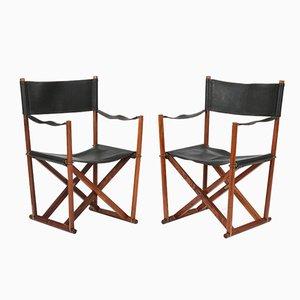 Model MK 16 Folding Chairs by Mogens Koch, 1960s, Set of 2