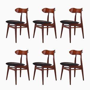 Beistellstühle von Louis van Teeffelen für WéBé, 1960er, 6er Set