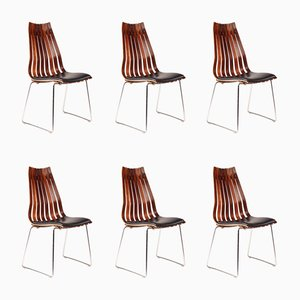 Senior Dining Chairs by Hans Brattrud for Hove Møbler, 1950s, Set of 6
