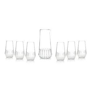 Caraffa e bicchiere della collezione Mixed di Felicia Ferrone per fferrone