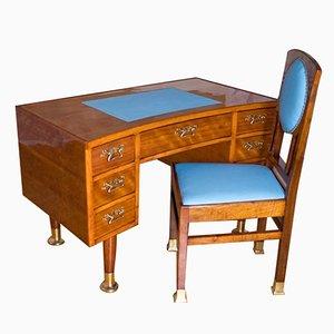 Ungarischer Vintage Schreibtisch und Stuhl, 1940er