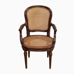Louis XVI Style Solid Mahogany Chair, 1900s