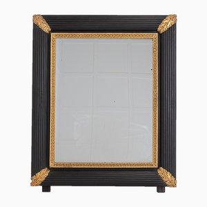 Large 19th-Century Italian Ebonised & Gilded Mirror