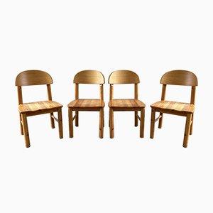 Kiefernholz Stühle von Rainer Daumiller, 4er Set