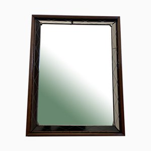 Art Deco Spiegel mit erhabenem und graviertem Rand