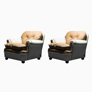 Vintage Dream Armchairs from Poltrona Frau, 1970s, Set of 2