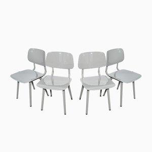 Vintage Revolt Stühle in Hellgrau von Friso Kramer für Ahrend, 2004, 4er Set
