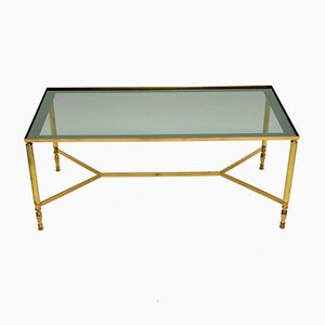 Vintage French Brass Coffee Table, 1960s
