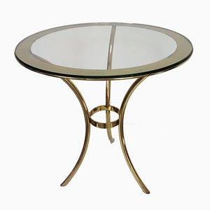 Vintage Round Golden Side Table from Valenti, 1980s