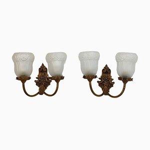 Antique Art Nouveau Style Sconces, Set of 2