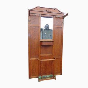 Art Deco Pre-War Oak Wardrobe