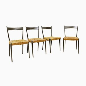 Woven Cane S2 Dining Chairs by Alfred Hendrickx, 1950s, Set of 4
