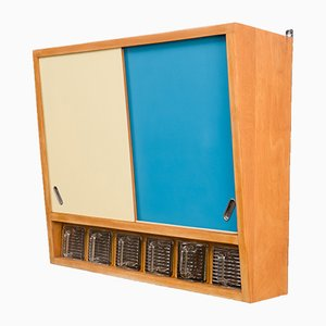Wall Cabinet with Colored Doors, 1950s
