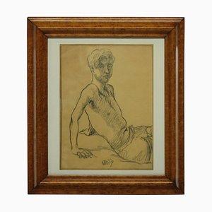Porträt eines jungen Mannes, Kohle, 1969
