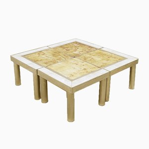 Ceramic Modular Coffee Tables, Set of 4