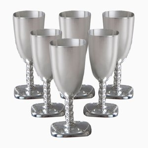 Tin Shotglasses, Set of 6