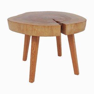 Massiver Holz Beistelltisch mit Schwalbenschwanz-Verstärkung im Stil von George Nakashima