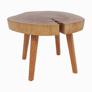 Solid Wood Side Table with Dovetail Reinforcement in the style of George Nakashima