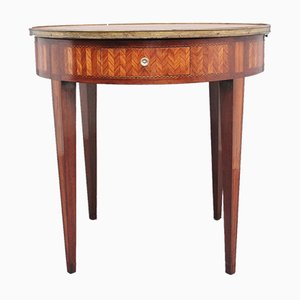 19th-Century French Kingwood and Marble Top Center Table