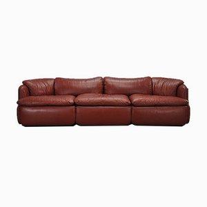 Leather Confidential Sofa by Alberto Rosselli for Saporiti Italia, 1972