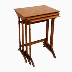 Wooden Nesting Tables, 1900s, Set of 3