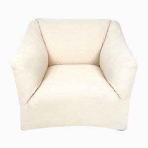 Mid-Century White 685 Tentazione Club or Lounge Chair by Mario Bellini, 1976