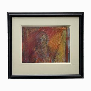 Mixed Media Artwork with Black Frame by Annie Field