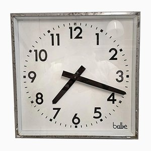 Square French Factory Clock from Brillie, 1950s