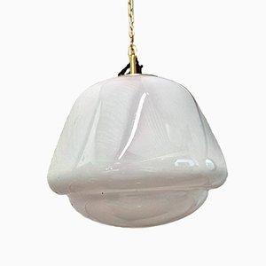 Czech Opaline Glass Pendant Light, 1960s