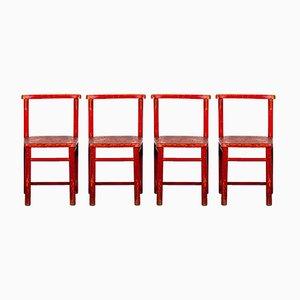Chaises pour Enfant de Herlag, 1970s, Set de 4