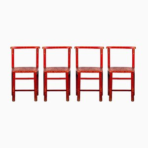 Children's Chairs from Herlag, 1970s, Set of 4