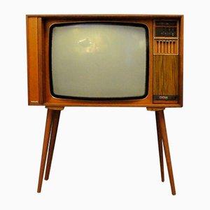 Vintage Teak Fernseher von Philips
