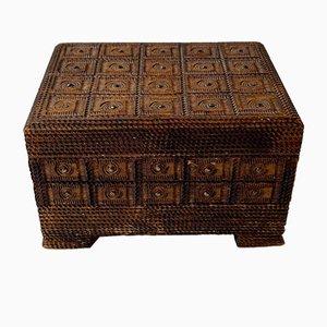 Scandinavian Folk Art Box with Hidden Compartment, 1940s