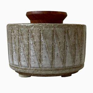 Ceramic Shark Teeth Jar by Anne & Per Linnemann-Schmidt for Palshus, 1970s